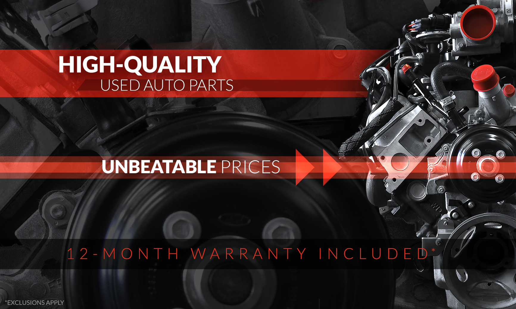 High-Quality Used Auto Parts at Unbeatable Prices - 12-Month Warranty Included (Exclusions Apply)